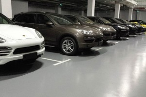 Beijing Porsche 4S Store Car Park